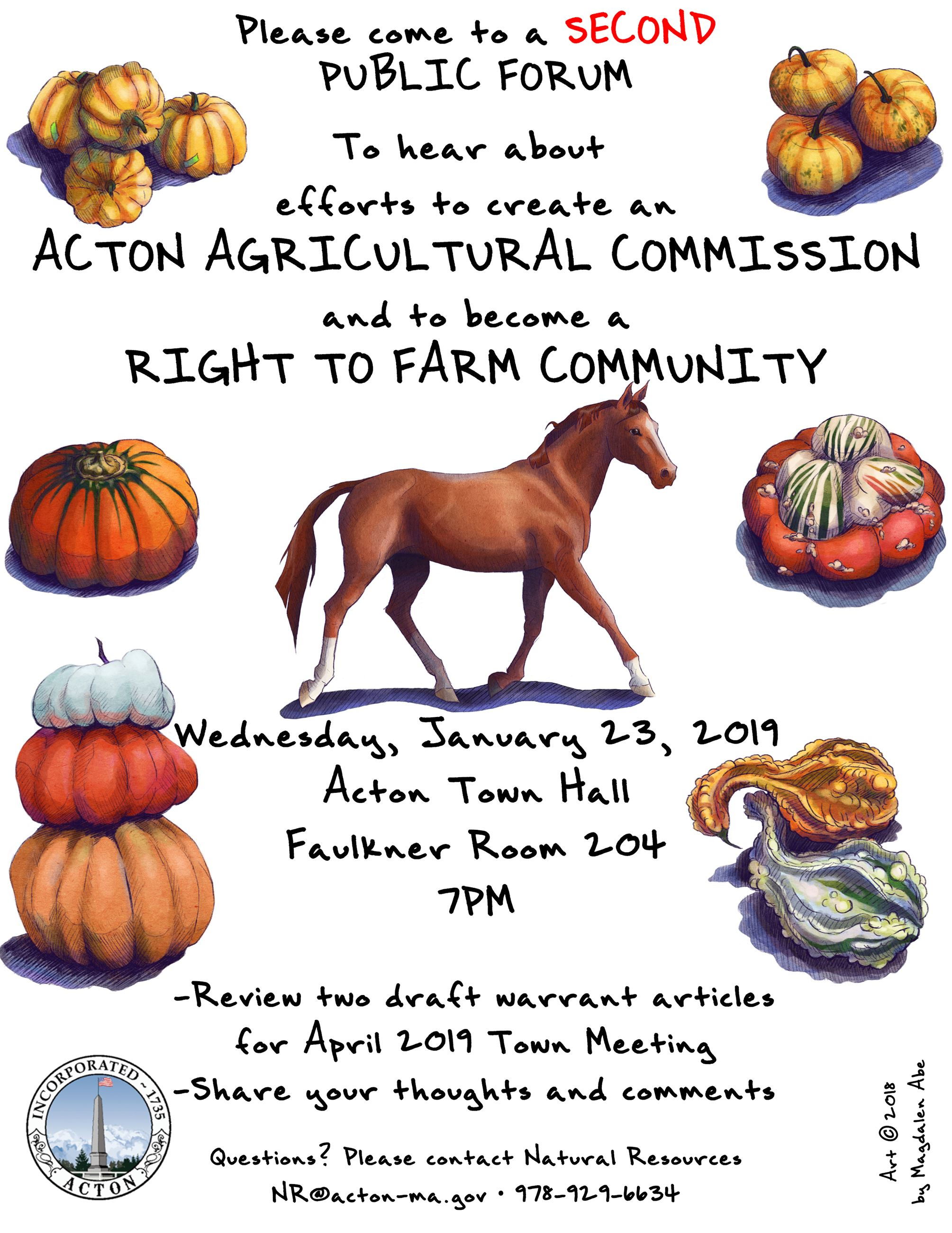 Acton Agricultural Commission Public Forum