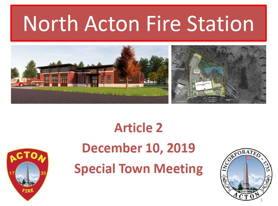North Acton Fire Station Project - STM Presentation